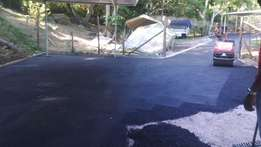 tar surface concrete ,paving and road markings