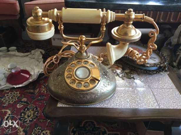 vintage french telephone(تلفون فرنسي انتيك قديم)