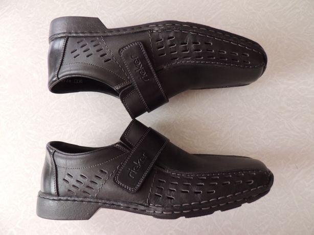 f07216118 Rieker,Германия,чёрные кожаные туфли, летние кожаные туфли,р 41: 950 ...