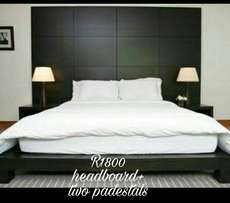 New and affordable Head board with padestals