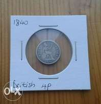 Awesome 1840 British silver 4 pence/groat