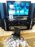 Play station 3 + 2 controls + 10 games
