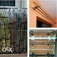 Imported high quality double curtain rods