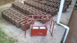 Start a concrete block business M150 6 inch blocks