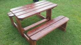 4 Seater Garden bench in wild cherry