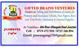 Gifted Brains Ventures Exams selling and distribution