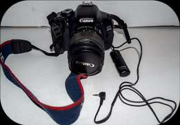 Canon 600D 18MP Camera + EF-S 18-55mm f/3.5-5.6 IS II Lens + remote