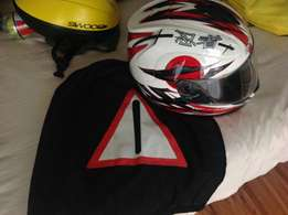 3items, Marushin helmet, gloves and bike pants size 32, good condition