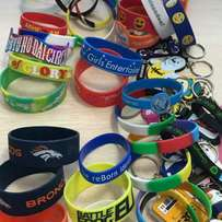 Wristbands and Lapel pins