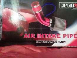 Universal air intake pipe (washable cone filter sold separately)