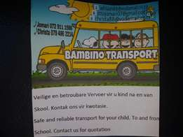 Bambino childrens transport for children from and to school in witbank