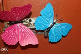 New unique magnetic and adhessive butterfly decor