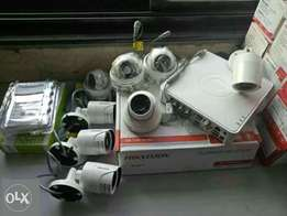 Four CCTV Cameras Security Surveillance System Complete Package Sale