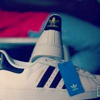 White Adidas Superstar available in all sizes