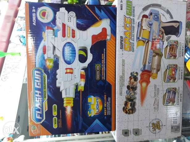 Flash and space gun music and light for kids