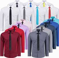 Men's Dress Shirts 100% Cotton Slim Fit
