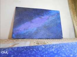 Glaxy painting on canvas