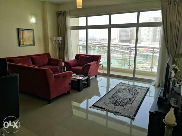 Spacious 2 BR FF Apartment with Lagoon view in Amwaj island For Rent