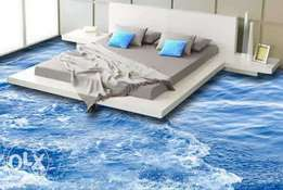 Epoxy flooring and frozen stamping