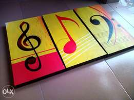 Music crests hand painted