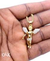 18k gold plated 316L angel chain