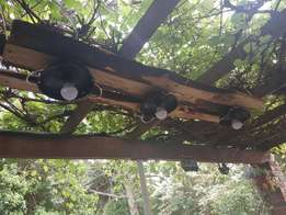 Rustic set of lights for patio or lapa or over 'n braai area