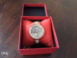 Ladies Gold Coated Guess watch