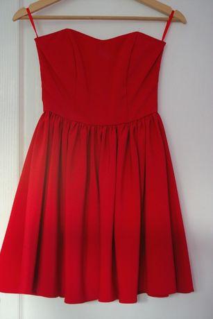 c02511383 Czerwona sukienka na półmetek,studniówke,wesele rozmiar 32 Kraków - image 1