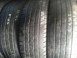 255/70/16 Second hand tyres