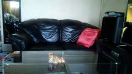 3-piece genuine leather couches