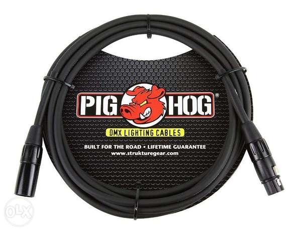 Pig Hog PHDMX10 3 Pin DMX Lighting Cable, 10 ft