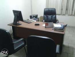 Fairly used Office desks, Swivel Chairs, File Cabinets...