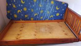 Used 3 by 6 wooden beds in good condition