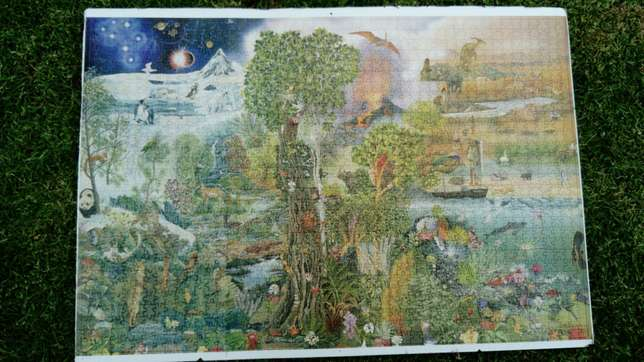 1500 piece completed nature/rainforest puzzle River Crescent - image 4