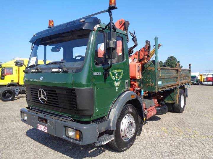 Mercedes-Benz SK 1922 + Manual + PTO + Kipper + Crane - 1992