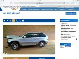 2001 bmw x5 e53 she'll for sale.no engine gearbox and diff