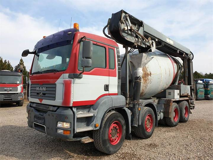 MAN Tga 35.400 8x4 Stetter 9 M3 + Theam 14m+4m - 2008