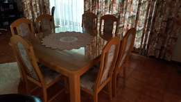 Dinning room set - Solid Oak Table with 8 x Chairs