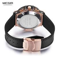 Original Megir Chronograph leather watch