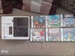 Nintendo DS XL with 6 games