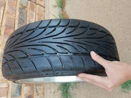 """One month old 17"""" 205/40/17 dunlope tyres."""