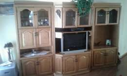 Wall Unit solid oak