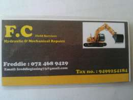 Need repairs.Give me a call.Hydraulic repairs ,Auto-electrical repairs