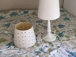 Bedside lamp with two shades