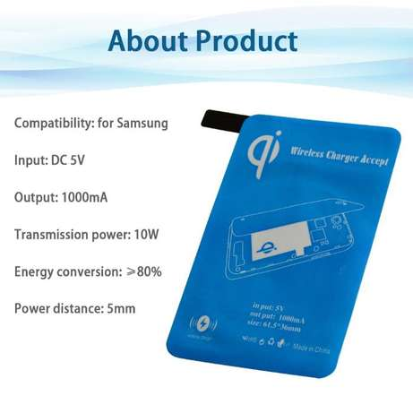 Qi-Standard-Wireless-Charger-Pad-Charging-Receiver-f-Samsung-Galaxy-N Lagos Mainland - image 2