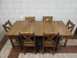 Kuchnia Drewniana Stoły I Krzesła Olxpl
