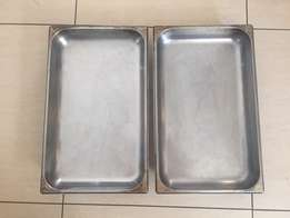 2 x large Bain Marie Inserts