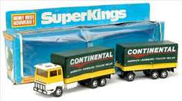 Matchbox Superkings K-21 Ford transcontinental truck set
