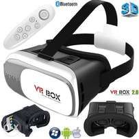 Universal 3D Virtual Reality VR BOX V2.0 Glasses Headset + Bluetooth R