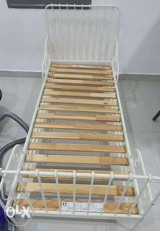 4 kids Ikea Ext bed frame with slatted bed base
